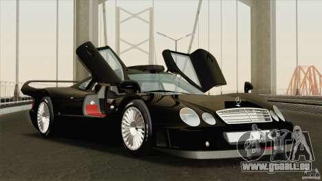 Mercedes-Benz CLK GTR Race Road Version Stock für GTA San Andreas Seitenansicht