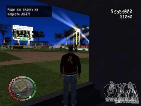 Concert de l'AK-47 v2 pour GTA San Andreas deuxième écran