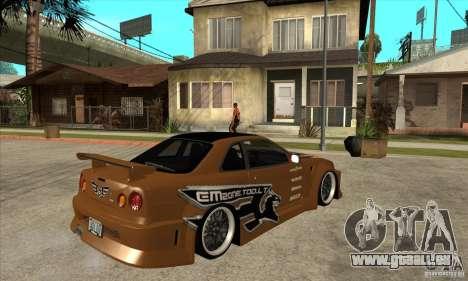 Nissan Skyline GTR - EMzone B-day Car für GTA San Andreas rechten Ansicht