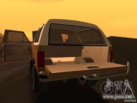 Ford Bronco 1985 pour GTA San Andreas vue de droite
