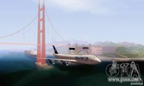 Boeing 747-8F für GTA San Andreas zurück linke Ansicht