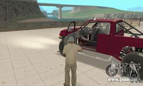 Dodge Ram Prerunner für GTA San Andreas Rückansicht