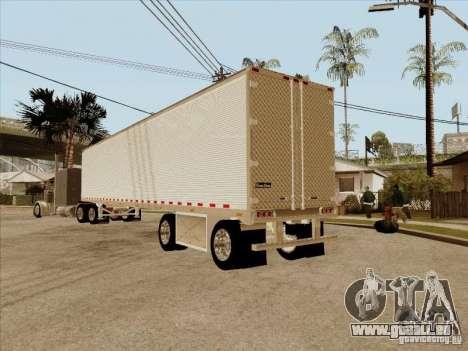 Anhänger, Peterbilt 379 Custom für GTA San Andreas Rückansicht