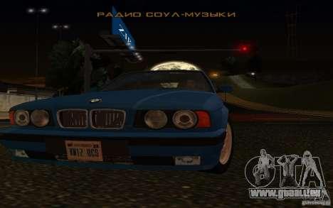 BMW 525 E34 V.3 für GTA San Andreas Rückansicht