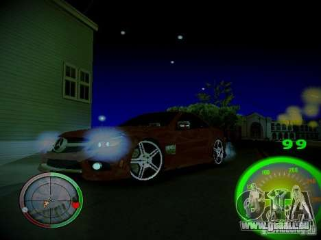 Compteur de vitesse par Centrale pour GTA San Andreas quatrième écran
