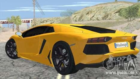 Lamborghini Aventador LP700-4 2012 für GTA San Andreas rechten Ansicht