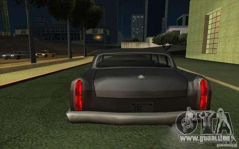 Civilian Cabbie pour GTA San Andreas sur la vue arrière gauche
