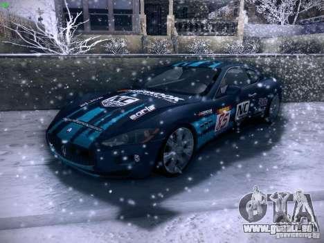 Maserati Gran Turismo S 2011 V2 pour GTA San Andreas vue de dessus