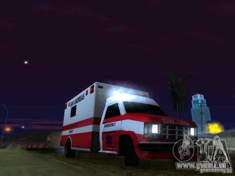 Ambulance 1987 San Andreas pour GTA San Andreas moteur