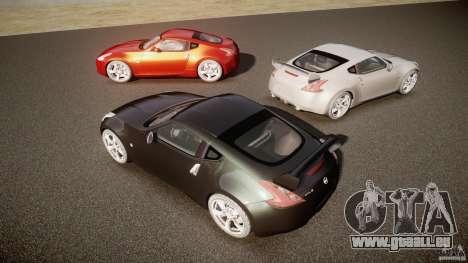 Nissan 370Z pour GTA 4 vue de dessus