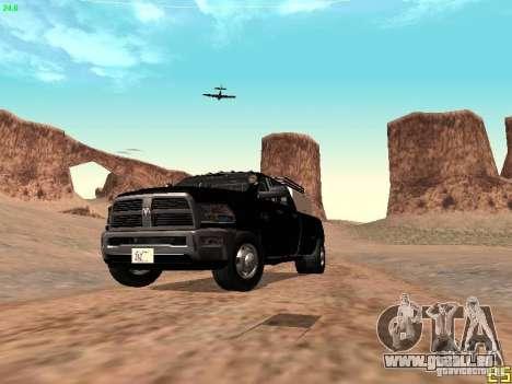 Dodge Ram 3500 Unmarked pour GTA San Andreas vue de dessus