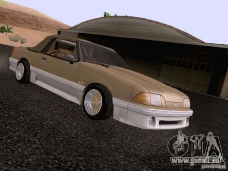 Ford Mustang GT 5.0 Convertible 1987 pour GTA San Andreas