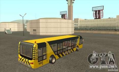 Bus pour l'aéroport pour GTA San Andreas vue de droite