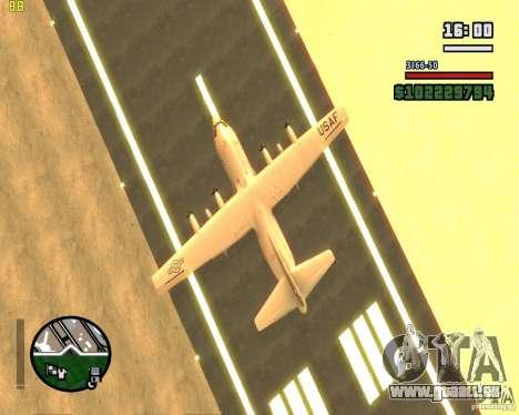 C-130 hercules pour GTA San Andreas vue intérieure