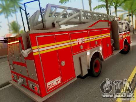 E-One FDNY Ladder 291 pour GTA San Andreas vue arrière