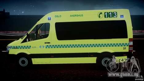 Mercedes-Benz Sprinter PK731 Ambulance [ELS] für GTA 4 Innen