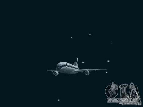 L1011 Tristar Delta Airlines für GTA San Andreas Rückansicht