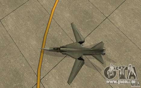 MiG-23 nach unten der Flogger für GTA San Andreas Rückansicht