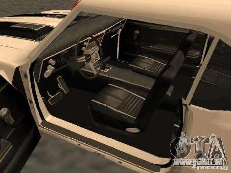 Chevrolet Camaro SS 396 Turbo-Jet pour GTA San Andreas vue intérieure