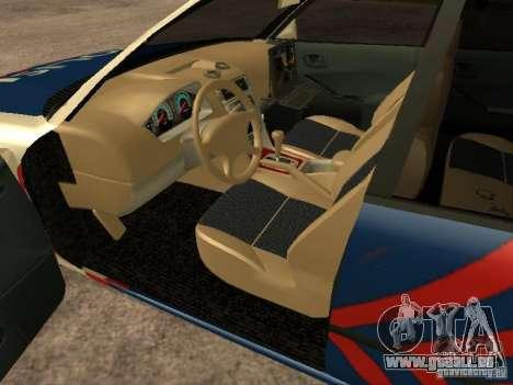 Mitsubishi Galant Police Indanesia pour GTA San Andreas sur la vue arrière gauche
