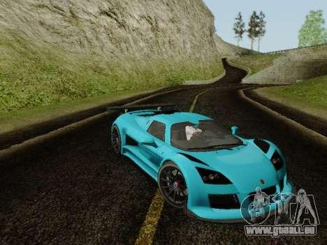 Gumpert Apollo S 2012 pour GTA San Andreas sur la vue arrière gauche