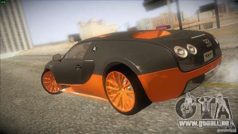 Bugatti Veyron Super Sport pour GTA San Andreas vue de droite