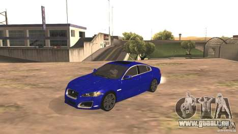 Jaguar XFR 2012 V1.0 für GTA San Andreas zurück linke Ansicht