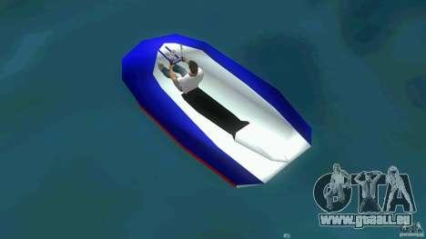 Speedboat dinghy pour GTA Vice City sur la vue arrière gauche
