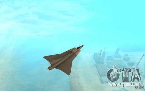 Saab J-35 Draken pour GTA San Andreas sur la vue arrière gauche