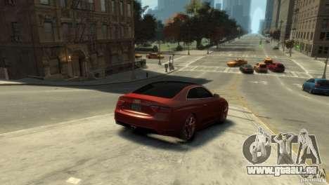 AUDI S5 pour GTA 4 Vue arrière de la gauche