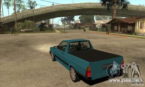 VW Saveiro GL 1989 pour GTA San Andreas sur la vue arrière gauche