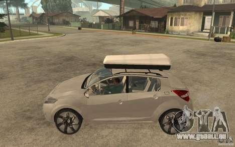 Renault Megane III pour GTA San Andreas laissé vue