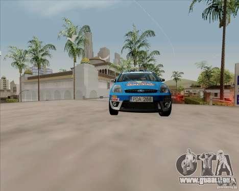 Ford Fiesta ST Rally für GTA San Andreas Rückansicht