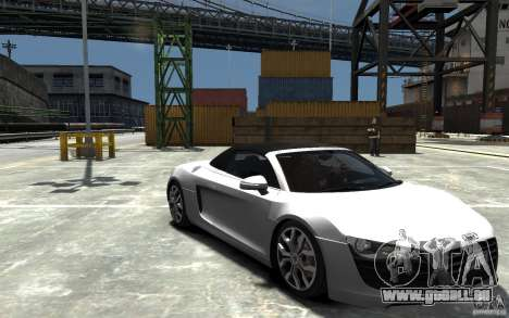Audi R8 Spyder 5.2 FSI Quattro V4 [EPM] pour GTA 4 vue de dessus