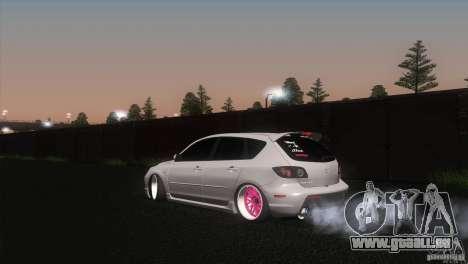 Mazda MazdaSpeed 3 pour GTA San Andreas laissé vue