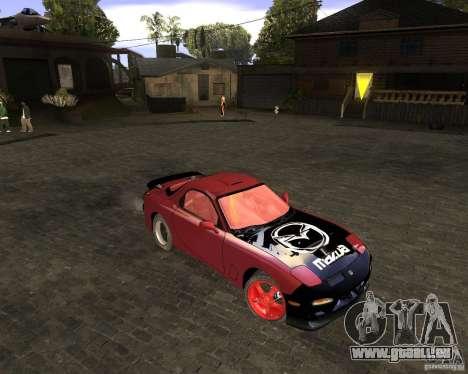 Mazda RX-7 Drifter pour GTA San Andreas laissé vue