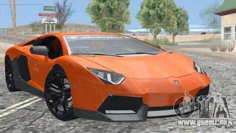 Lamborghini Aventador LP700-4 2012 pour GTA San Andreas vue de dessous