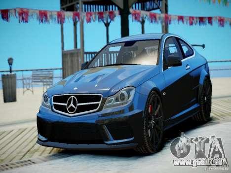 Mercedes-Benz C63 AMG Black Series 2012 v1.0 pour GTA 4 est une gauche