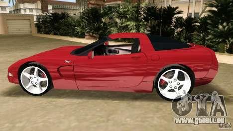 Chevrolet Corvette Z05 pour une vue GTA Vice City de l'intérieur