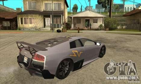 Lamborghini Murcielago LP 670 SV pour GTA San Andreas vue de droite