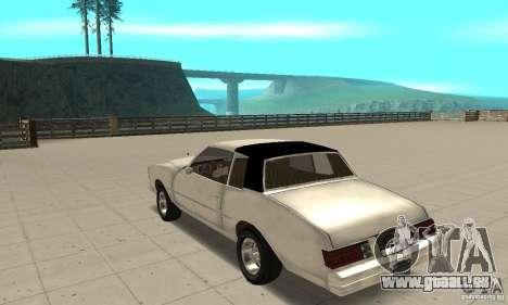Chevrolet Monte Carlo 1976 pour GTA San Andreas sur la vue arrière gauche