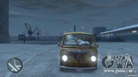 VW Transporter T2 pour GTA 4 est une vue de l'intérieur