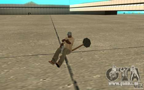 Flying Broom für GTA San Andreas linke Ansicht