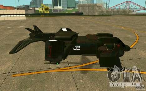 Aliens vs. Predator Marine Drobship pour GTA San Andreas sur la vue arrière gauche
