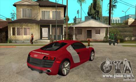 Audi R8 V10 pour GTA San Andreas vue de droite