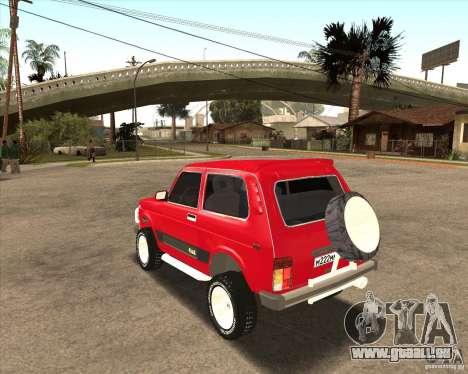 VAZ 21213 4 x 4 für GTA San Andreas Innen