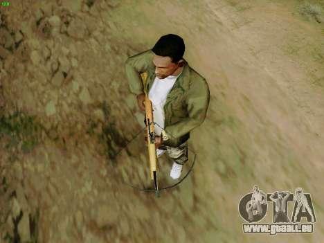 Une arbalète de travail avec des flèches pour GTA San Andreas cinquième écran