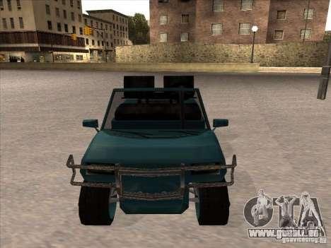 Small Cabrio pour GTA San Andreas sur la vue arrière gauche