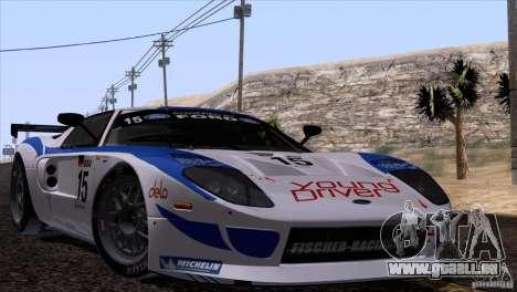 Ford GT Matech GT3 Series pour GTA San Andreas laissé vue
