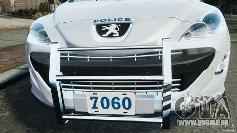 Peugeot 308 GTi 2011 Police v1.1 pour GTA 4 roues